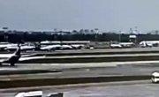 Грубая посадка самолета SSJ100 RA-89098 в Шереметьево 5 мая 2019 г.