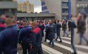 Работники завода БелАЗ вышли на митинг. Протесты в Белорусии
