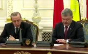 Эрдоган уснул во время пресс-конференции с Порошенко: видео.
