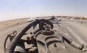 Ми-8 Редкие кадры. Работа лопасти в полете. Момент запуска