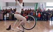 Girl Biker Performs - You Must See