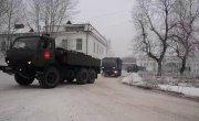 Отправка отряда Минобороны России, работавшего в Усолье-Сибирском, в места постоянной дислокации