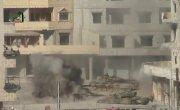 Взрыв боекомплекта танка Т72 в Сирии