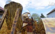 Венгр сделал трактор из дерева (Man Builds Tractor From Pine Wood)