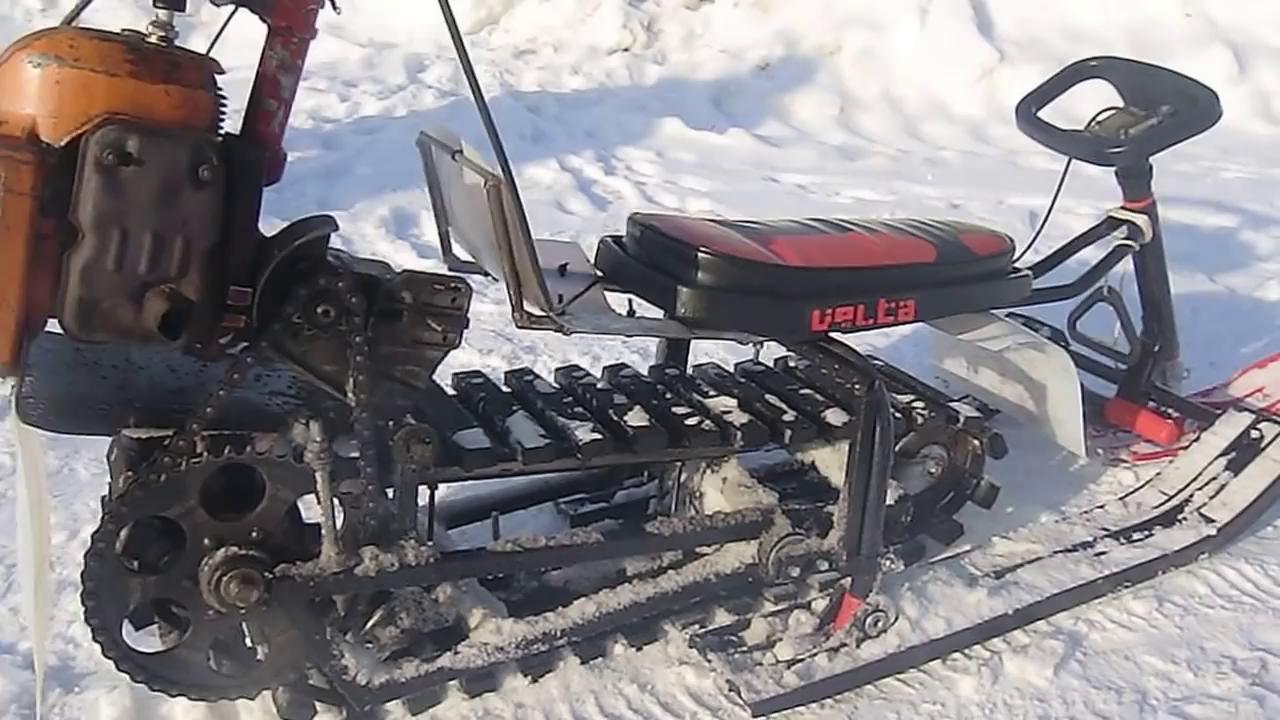Как сделать снегоход из бензопилы своими