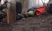 Видео стрельбы непосредственно с места событий на майдане