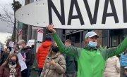 Акция в поддержку Навального в Лос-Анджелесе. 23.01.2021.