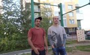 Красноярск тепло встретил кругосветного путешественника на турнике!