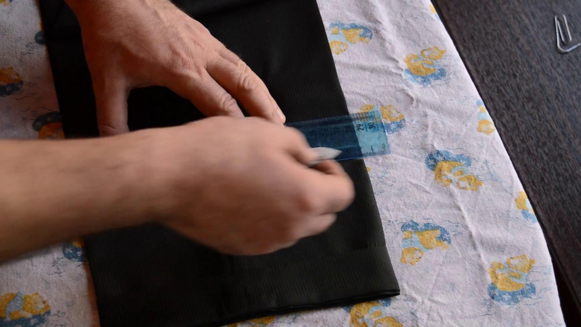 Укоротить мужские брюки в домашних условиях 316