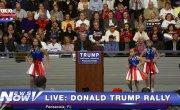 """Коллектив """"Freedom Girls"""" открывает выступление Дональда Трампа в Пенсакола, штат Флорида 13 января 2016 года"""