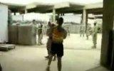 Боксерский поединок солдат в Ираке