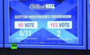 Британцы ставят рекордные суммы на результаты референдума о независимости Шотландии