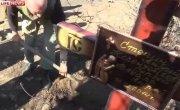 Ополченцы и журналисты установили крест на месте гибели Стенина
