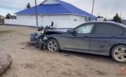 Сегодня утром в Красноярском крае водитель без прав на бэхе сыграл в боулинг с тремя подростками