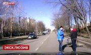 в москве, владелец золотого мотоцикла врезался в машину своего друга и погиб от веса своего жи коня.