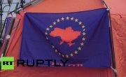 На Майдане в Киеве продолжают устанавливать палатки