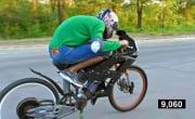 Забацал мощный электро велосипед, Разогнал 100 кмч и чуть не влетел