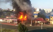 Makhachkala Moment of the explosion gas station August 8, 2014