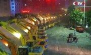 116 экскаваторов в Китае разобрали эстакаду за две ночи