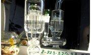 Стеклянный Люксовый Бонг в действии GG из Боросиликатного стекла 30см с Горизонтальным Диффузором и Древовидным Перколятором