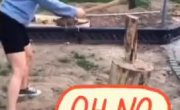 Как сделать процесс колки дров незабываемым? Очень просто!