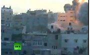 Очевидец снял авианалет на сектор Газа