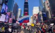 Кадры с акции в поддержку Навального в Нью-Йорке 23.01.2021.