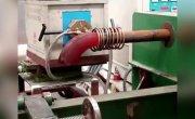 Изготовление металлического отвода для труб горячим способом