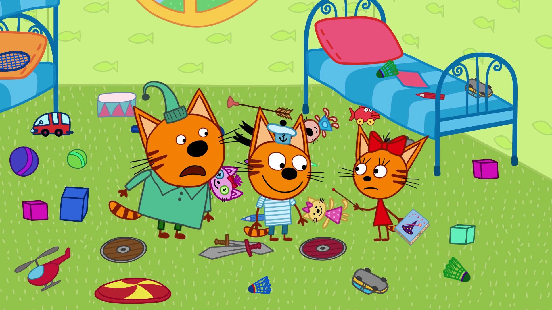 три кота новые серии картинки решила, что