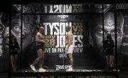 Тайсон - Джонс взвешивание и битва взглядов /  Майк показал крутую форму перед боем