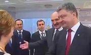 Изменился в лице. Как Порошенко встретил Путина в Минске. Мимика Порошенка при рукопожатии.