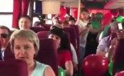 Репетиция-инструктаж перед митингом за Лукашенко в автобусе
