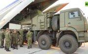 Выгрузка комплексов С-400 «Триумф» и «Панцирь-С» ВКС России в Сербии
