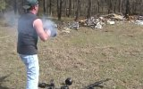 Burning AK47 - 300 Rounds  on Fire