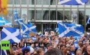 Сторонники независимости Шотландии провели акцию протеста у офиса ВВС