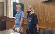 Как Валерия Башкирова слушала решение суда о переводе её в СИЗО