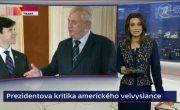 Президент Чехии послал куда подальше американского посла 06.04.2015