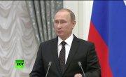 Пресс-конференция Владимира Путина и Франсуа Олланда
