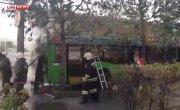 В Красноярске на полном ходу загорелся автобус с пассажирами. Красноярск