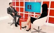 Интервью на 8 канале. Анастасия Батанова, Станислав Вахрушев
