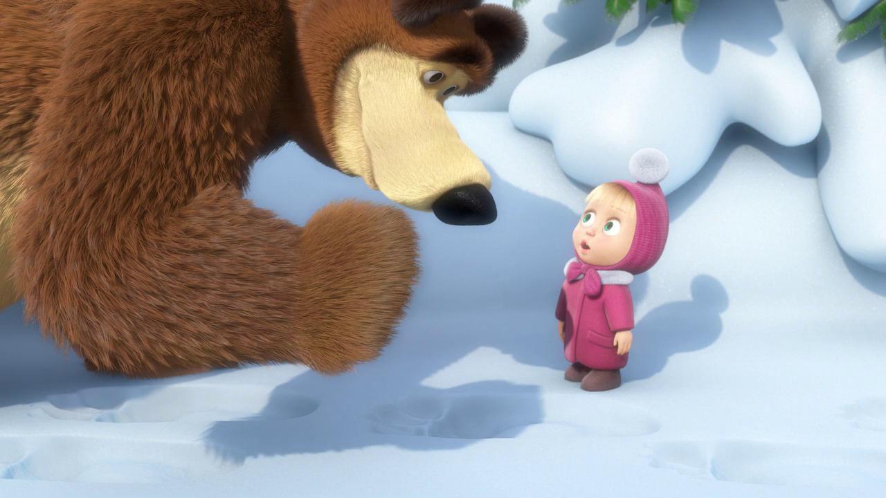 картинки маши и медведя зима задирала находится