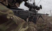 Сдача контрольной проверки курсантами центра снайпинга в Ленинградской области