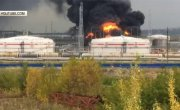 Видео с места крупного пожара под Нижним Новгородом.