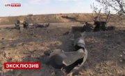 Сожженные танки и БМП ВСУ в полях под Старобешево – эксклюзивные кадры