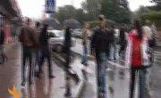Белый автопробег начался в Красноярске с проколотой шины