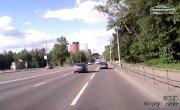 Таран с отскоком на Панфиловском проспекте г.Москва ( ТП за рулем )