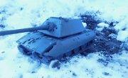 Танк Е-100 имитация испытания вне игры, танк из пластилина