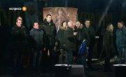 "Народное Вече. 22.01.2014. ""Піккардійська терція""  и лидеры оппозиции исполняют Гимн Украины"