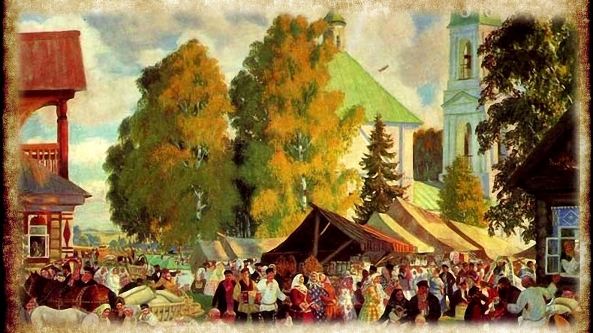 кустодиев осенний сельский праздник стихи к картине нашем обзоре рассказ