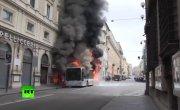 Автобус выгорел за несколько минут